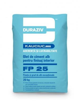 DURAZIV FP 25 Glet De Finisare Pe Bază De Ciment Alb
