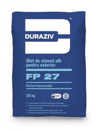 DURAZIV FP 27 Glet De Ciment Alb Pentru Exterior