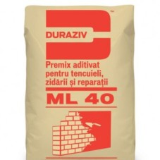 DURAZIV ML 40 Premix Aditivat Pentru Tencuieli, Zidării și Reparații